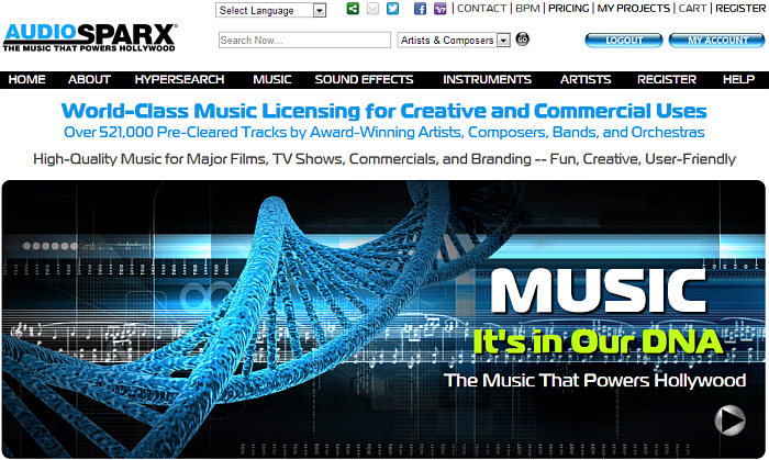 AudioSparx - The mothership of digital audio marketplaces