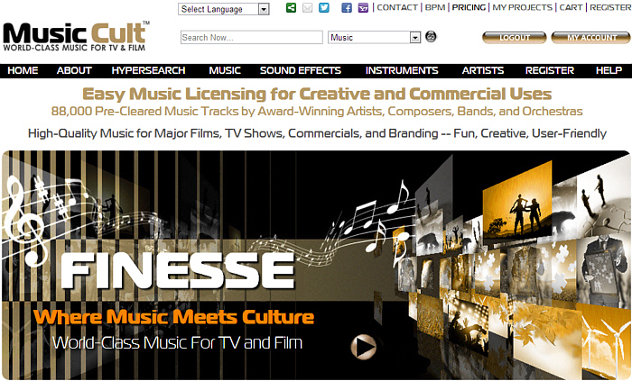 Music Cult - A great resource for gratis blanket music licensing
