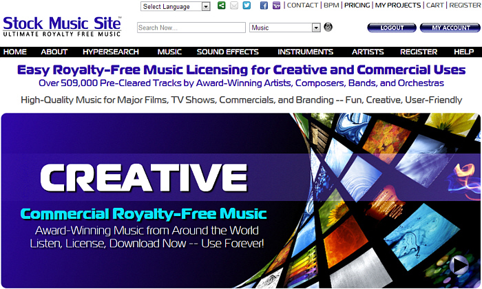 Stock Music Site - A great resource for selling royalty-free music