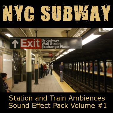 NYC Subway Station and Train Ambiences Sound Effect Pack Vol.1
