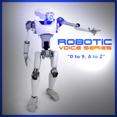 Robotic Voice Series - Alphanumerics 0 to 9, A to Z