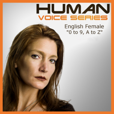 Human Voice Series - Alphanumerics 0 to 9, A to Z - English Woman