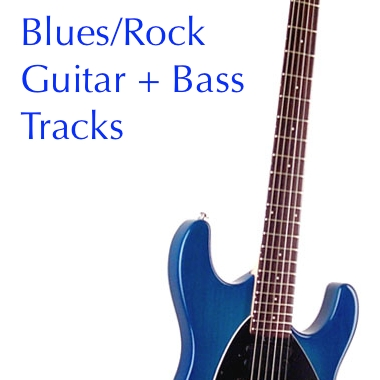 Blues Rock Guitar and Bass Tracks