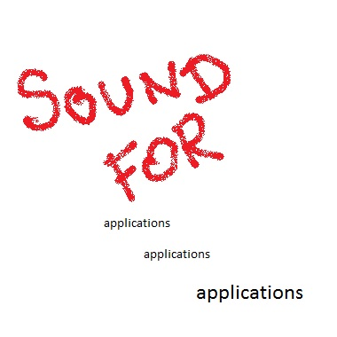 Sounds for Applications