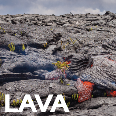Lava From the Kilauea Volcano